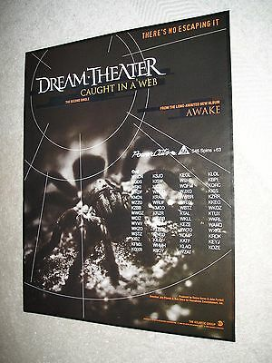 DREAM THEATER - 1994 US Full-Page Ad 'Caught In A Web' Single (Album Network)