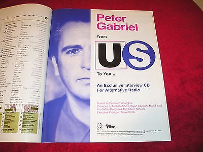PETER GABRIEL - 1992 US Full-Page Color Ad Album Network/Geffen Interview CD