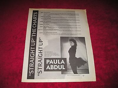 PAULA ABDUL - 1988 US Full-Page Ad 'Straight Up' Single Release Radio & Records
