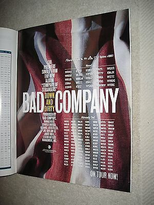 BAD COMPANY - 1995 US Full-Page Ad 'Down And Dirty' Single (Album Network)