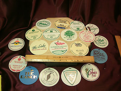 19 Vtg Golf Bag Tags Colorado-Pinehurst/Copper Creek/Pole Creek/The Links-Free/S
