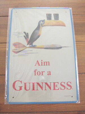 Guinness Aim For A Guinness metal Sign, Toucan