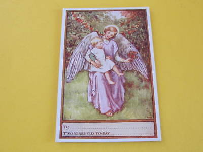 Angel Postcard Sized Prayer Card for Two Years Old