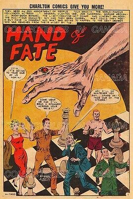 """UNUSUAL TALES 1963 = Human Chess Pieces SPLASH PAGE = 19"""" POSTER Not Comic Book"""