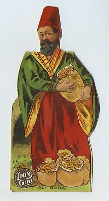 1800's Die Cut Stand Up Doll ALI BABA Story Advertising Trade Card Coffee bv1870