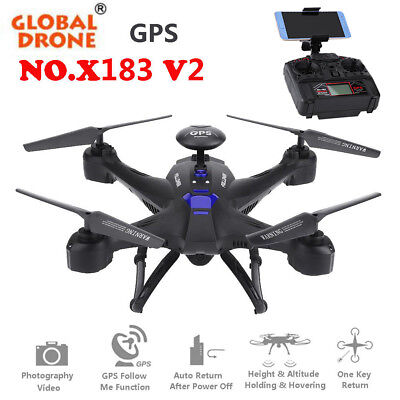 Global Drone 6Axis X183 1080P HD Camera Quadcopter GPS Brushless WiFi Helicopter