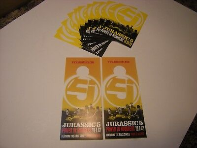 Jurassic 5   POWER IN NUMBERS  LOT OF 12  STICKERS  + HIP-HOP   # 59