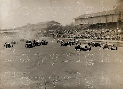 ORIGINAL PHOTOGRAPH Start of 1932 Monza Grand Prix -Bugatti Alfa Romeo- Meurisse