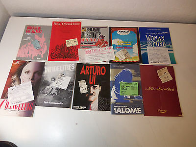 1980's Lot 10 Theater Programs & 10 Ticket Stubs ENGLISH THEATRE National Apollo