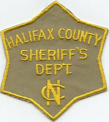 old vintage HALIFAX COUNTY NORTH CAROLINA NC SHERIFF POLICE PATCH