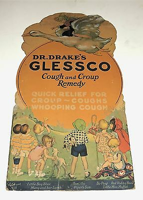 Mother Goose Dr Drake Glessco Medicine Large Fairy Tale Store Display Poster 30S