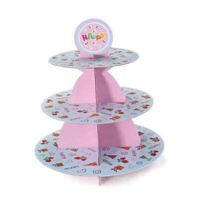 Birthday Wedding Party 3 Tier Cupcake Cake Dessert Stands