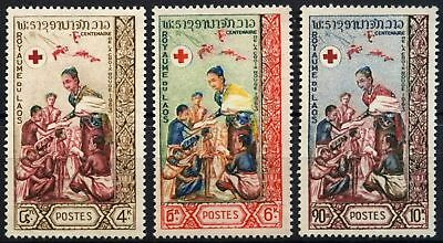 Laos 1963 SG#132-134 Red Cross Centenary MNH Set #D58557