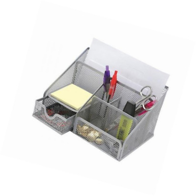 RamBue, Multipurpose Metal Mesh 6 Compartment Desk Organizer Office Supply Caddy