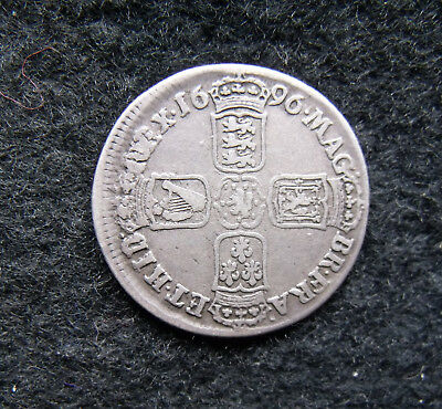 1696 Shilling William III Shilling nice example.