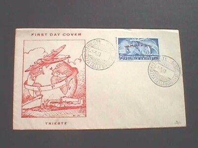 Trieste - 1949 First Day Cover, Universal Postal Union
