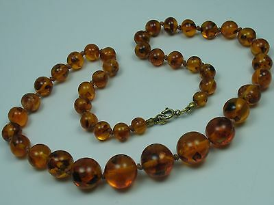 Beautiful Antique Real Amber Collier Necklace