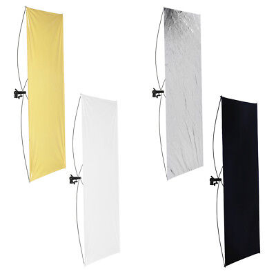 "Neewer 28x43"" Gold/Silver and Black/White Studio Flat Panel Light Reflector"