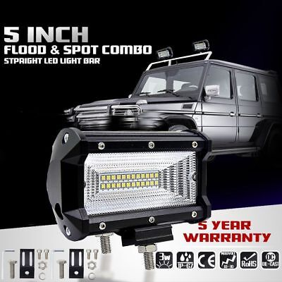 5 Inch 96W Philips LED Work Light Car Flood Bar Offroad Fog Lamp 4WD Jeep SUV UK