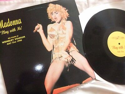 Madonna Lp Record, Play With Me. At Wembley Stadium. 1990. Ex/ex.