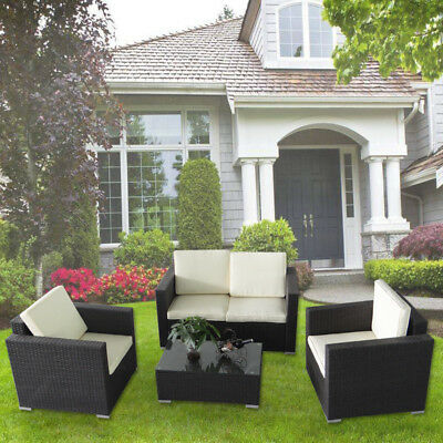 poly rattan gartengarnitur sitzgruppe gartensofa lounge gartenm bel schwarz eur 2 50 picclick de. Black Bedroom Furniture Sets. Home Design Ideas