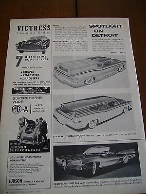 1958 Mga Judson Supercharger  ***original Ad*** Mg