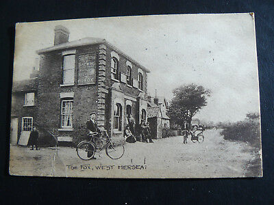 The Fox West Mersea Postcard - 1915 - Colchester Brewing Co Ltd Public House