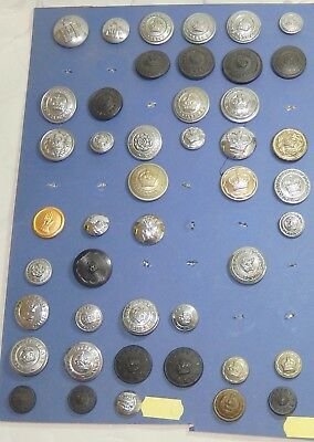Fine Collection Oboslete Constabulary Police Buttons Including Victorian Lot