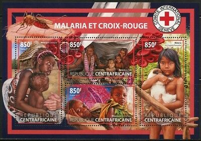 Central Africa  2017  Malaria And Red Cross Sheet Mint  Nh
