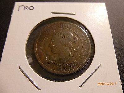 1900-H Canada Large One Cent Coin