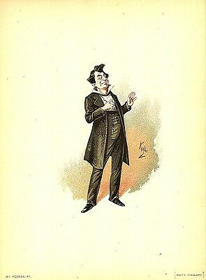 Quilp by Kyd 1899 from Charles Dickens The Old Curiosity Shop 7x5 Inch Reprint