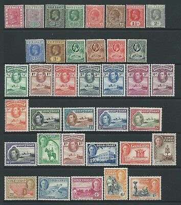 Collection of mounted MINT Gold Coast stamps.