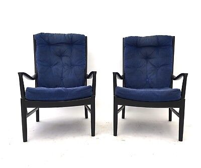 Pair of Vintage Retro Mid Century PARKER KNOLL Armchairs Danish 60s Easy Chairs