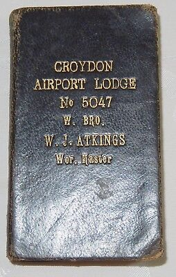 1935 Masonic Pocket Book Craft Perfect Ceremonies Croydon Airport Lodge 5047