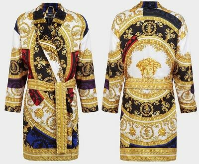 Versace I Love Baroque Luxury Bathrobe - Silk - Size M