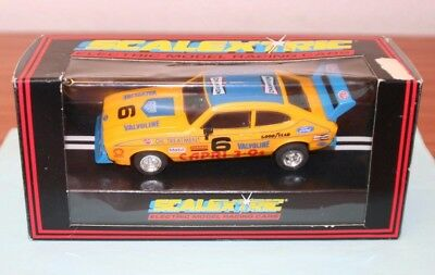 Scalextric C.379 Ford Capri 3.0s Yellow in box.  Excellent condition.