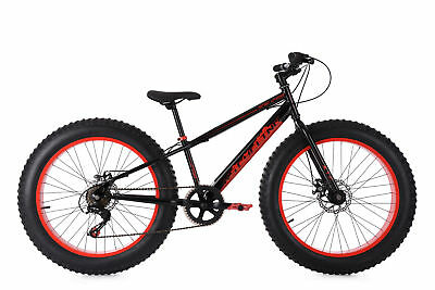 Fatbike 24'' Mountain Bike Kinder SNW2458 schwarz-rot RH 33 cm KS Cycling 237M