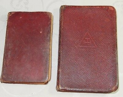 2  Masonic Pocket Book Antique Royal Arch Publications