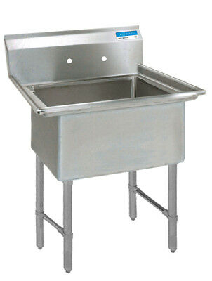 "BK Resources 16""x20"" One Compartment 16 Gauge Stainless Steel Sink"