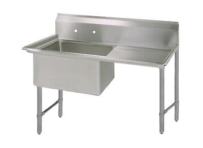 "BK Resources 16""x20""x14"" One Compartment 16 Gauge Stainless Steel Sink"