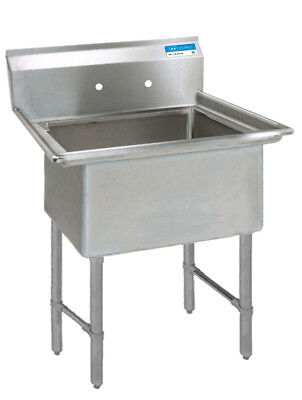 "BK Resources 24""x24""x14"" One Compartment 16 Gauge Stainless Steel Sink"
