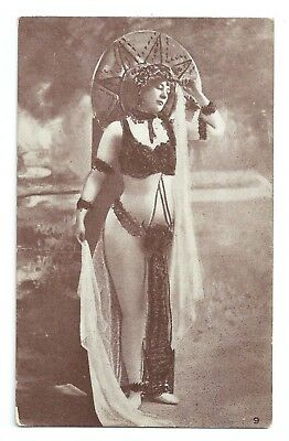 Risque - Beautiful Young Woman in a Risque Costume ca.1910 Postcard