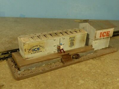 """N Scale Vintage """"ICE HOUSE""""    (weathered & Detailed)"""