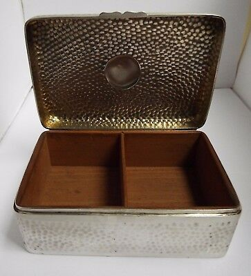Beautiful Large Heavy English Antique 1897 Solid Silver Cigarette Box Solid Lid