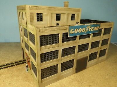 N Scale GOOD YEAR TIRE FACTORY  (weathered & Detailed)