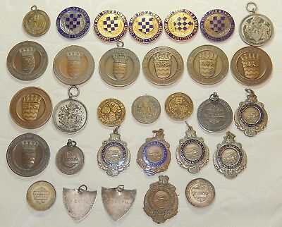 Fabulous Antique Collection Swimming & Water Polo Medals - Large Job Lot X 31