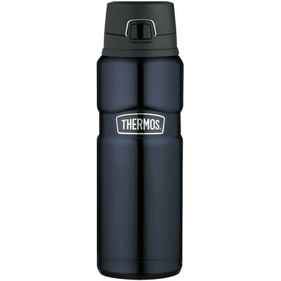 Thermos Stainless King Steel Vacuum Insulated Bottle Blue 24 oz SK4000MBTRI4