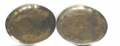 Pair Of 6 Antique French Brass Balance / Scales Pans 8 Inch Diameter