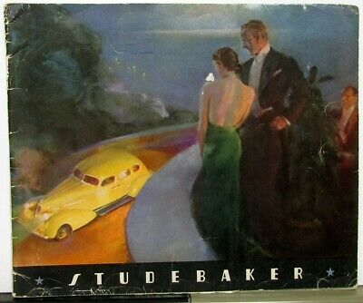 1936 Studebaker Dictator & President Prestige Color  Sales Brochure Original