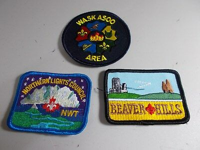 (Acv2-R) Three Different Listed Alberta Scout Badges  Canada Scout Badges